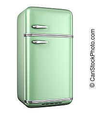 retro, koelkast
