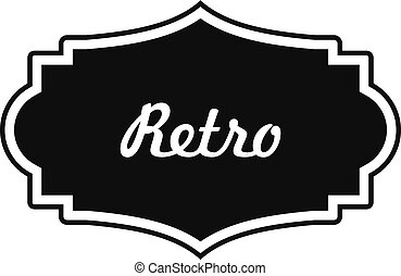 Retro label icon, simple style.