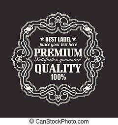 retro label premium quality badge