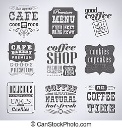 Retro  labels and typography,