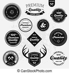 Retro labels - Set of vintage retro premium quality badges ...