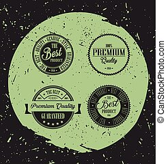 Retro labels with grunge background.eps