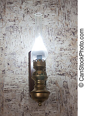 lamp - retro lamp holding in a fashion wall