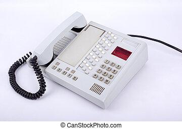 retro landline phone on a white background