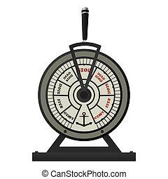 retro, latón, barcos, telégrafo