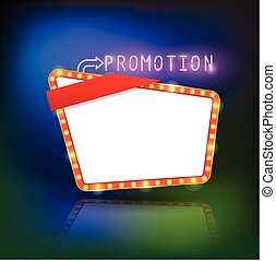 Retro light promotion banner