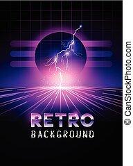 Retro Lightning Background