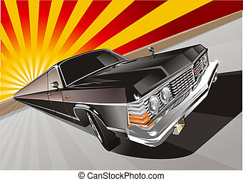 retro limousine. Available EPS-10 vector format separated by...