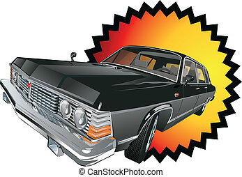 retro limousine - retro car. Available EPS-10 vector format...