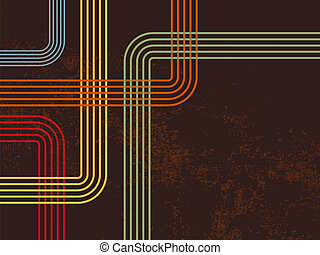 Retro lines 70s 80s