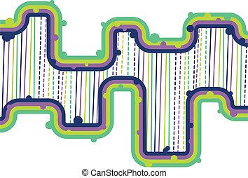 Retro Lines - Vector