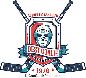 Retro logo of the hockey goalkeeper