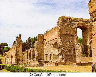 Retro look Augustus Mausoleum in Rome - Vintage looking ...