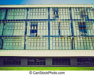 Vintage looking Bauhaus in Dessau, Germany