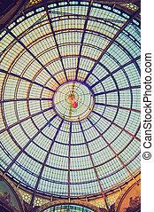 Retro look Galleria Vittorio Emanuele II Milan