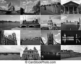 Retro look London landmarks