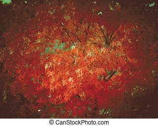 Retro look Maple leaves