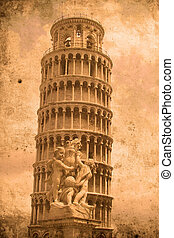 Tower of Pisa - Retro look of the Tower of Pisa