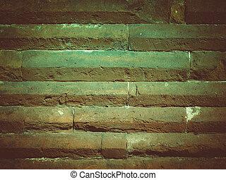 Retro look Roman wall