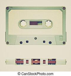 Retro look Tape cassette - Vintage looking Magnetic audio ...