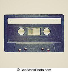 Retro look Tape cassette - Vintage looking Magnetic tape ...