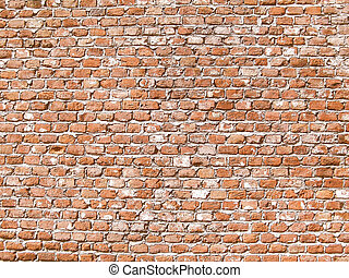 Retro looking Brick wall - Vintage looking Old brick wall...