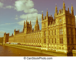 Retro looking Houses of Parliament - Vintage look Houses of ...