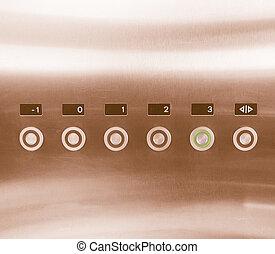 Retro looking Lift keypad