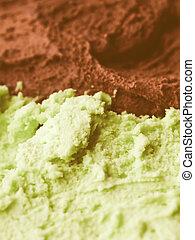Retro looking Mint chocolate ice cream