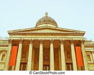 Retro looking National Gallery, London