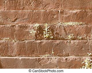 Retro looking Roman wall