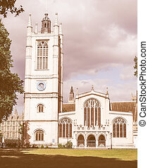 Retro looking St Margaret Church in London - Vintage looking...