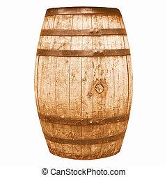 Retro looking Wine or beer barrel cask - Vintage looking...