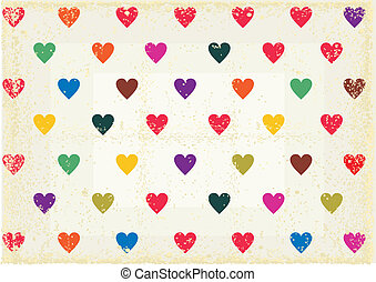 retro love heart background