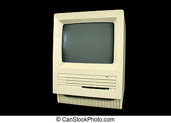 Vintage Mac SE computer from the eighties.