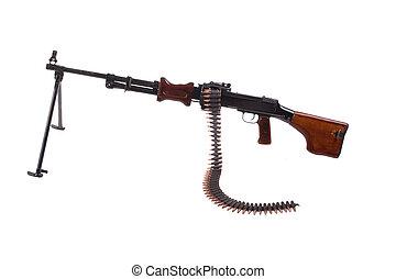 retro machine gun isolated on white