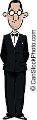 Retro man - Cartoon retro man with glasses vector...