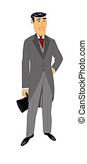 retro man in tuxedo and tails