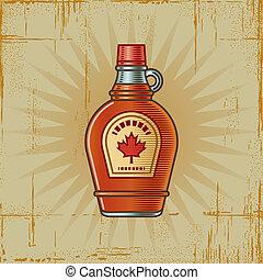 Retro Maple Syrup Bottle - Retro maple syrup bottle in...