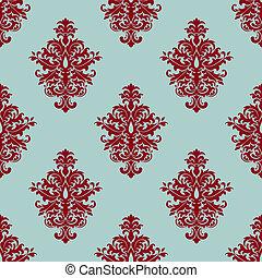 Retro maroon or crimson seamless pattern - Floral retro...