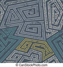 Retro maze seamless pattern