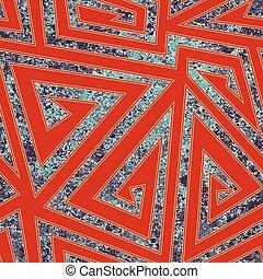 Retro maze seamless pattern with grunge texture.