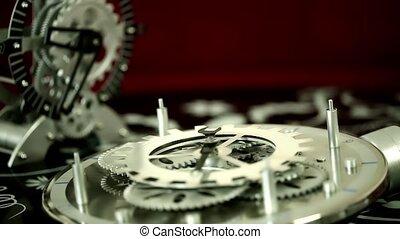 Retro Mechanic Clock Gears