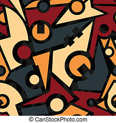 retro mechanic seamless pattern