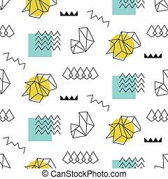 Retro memphis seamless pattern. 80-90s style - Retro memphis...