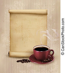 Retro Menu for restaurant. Coffee design template. Vector...