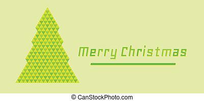 retro merry christmas card