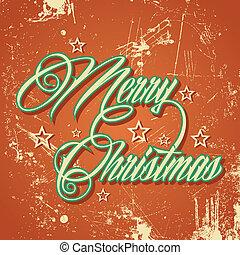 Retro Merry Christmas greeting