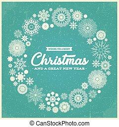 Retro Merry Christmas Greetings