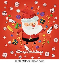 retro merry Christmas Santa